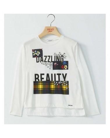 T-Shirt da ragazza tartan...