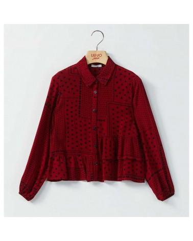 Camicia da ragazza rosso...