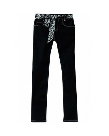 jeans da ragazza nero con...