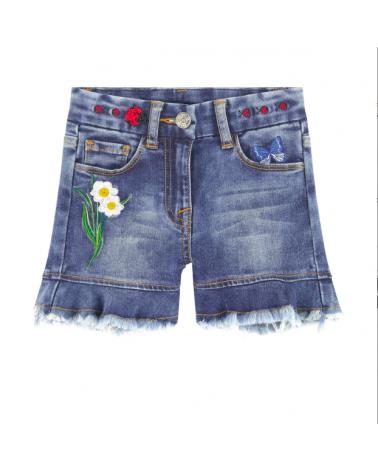 short jeans da bambina con...