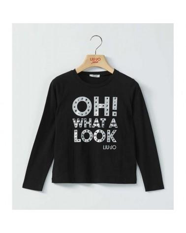 maglietta da ragazza nero...