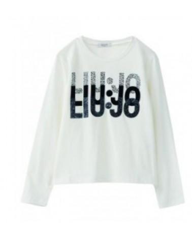 maglietta da ragazza panna...