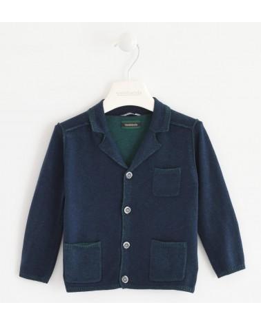cardigan tipo giacca blu...