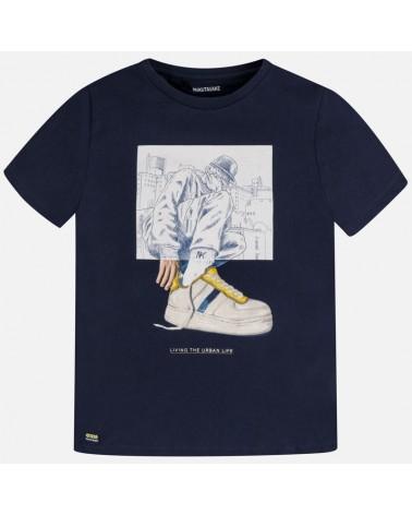 Maglietta manica corta blu...