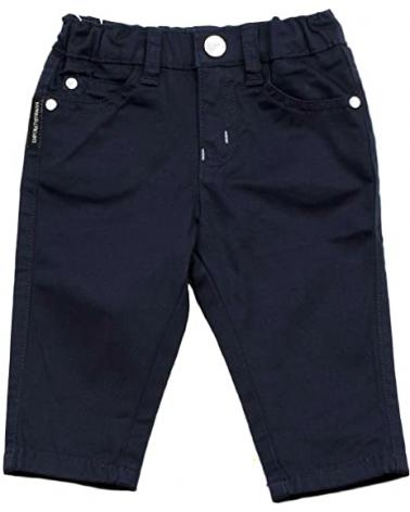 pantalone in cotone blu da...