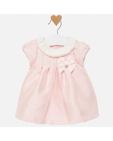 Vestito twill satinato rosa...