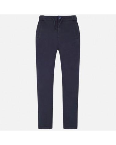 pantalone chino blu  con...