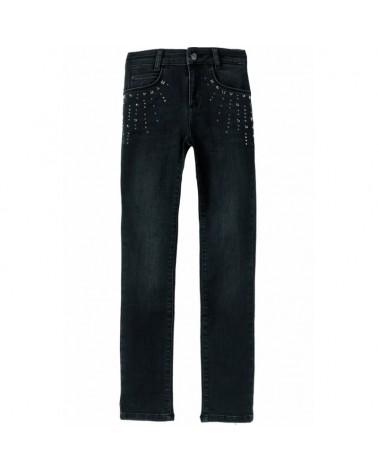 jeans da ragazza nero slim...