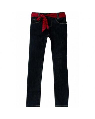jeans da ragazza blu con...