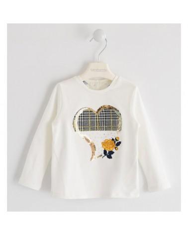 T-shirt per bambina bianco...