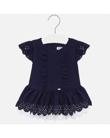 Vestito da bambina blu con...