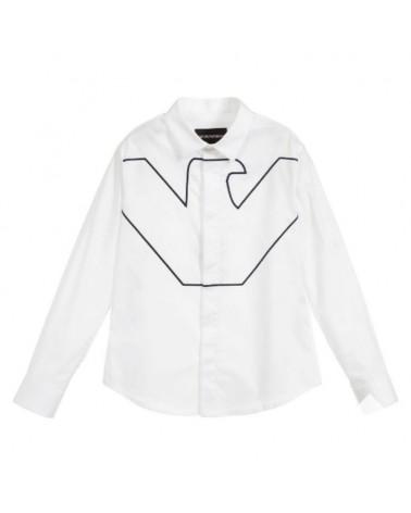 camicia da ragazzo bianco...