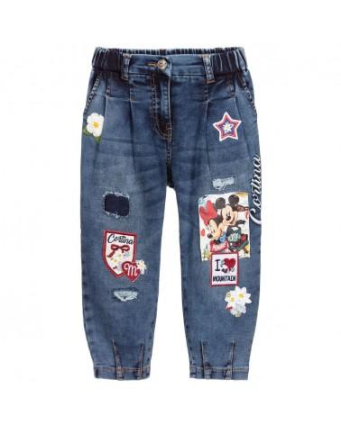jeans da bambina con toppe...