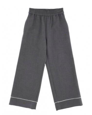 pantalone palazzo grigio da...