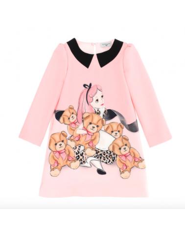 vestito da bambina rosa con...