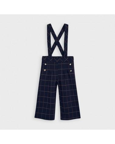 Pantalone culotte blu a...