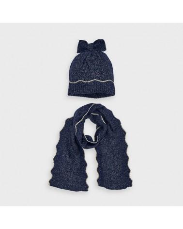 Set cappello e sciarpa blu...