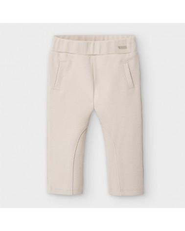 Pantalone lungo beige da...