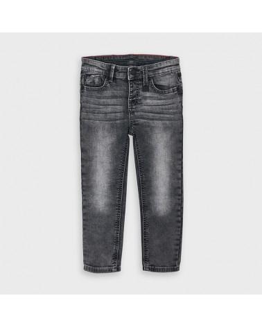 Jeans slim fit grigio da...