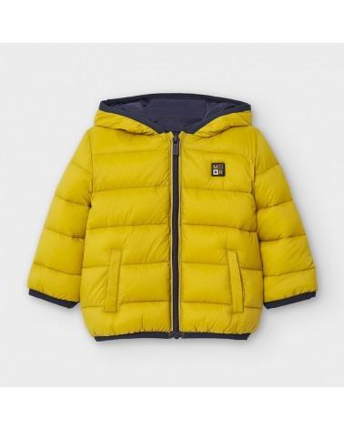 Cappotto giallo con sacca...